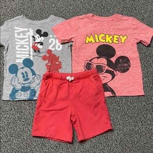 Other - Mickey Mouse Shirts w Shorts Boys 4T